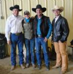 Mike Kevil, Shelbie Matheson, Martin Black, Kerry Kuhn.  Trainers in the 2012 Mane Event Trainers Challenge.